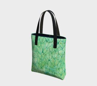 Green foliage watercolor Tote Bag aperçu