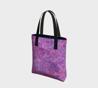 Neon purple and pink swirls doodles Tote Bag preview