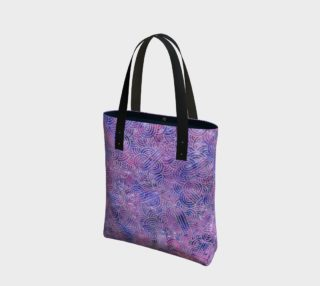 Purple and faux silver swirls doodles Tote Bag preview