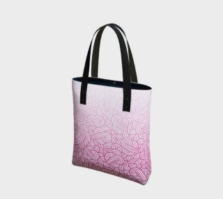 Gradient pink and white swirls doodles Tote Bag preview