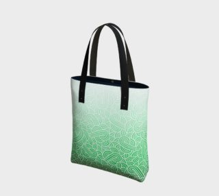 Ombré green and white swirls doodles Tote Bag preview