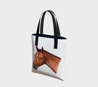 Bay horse portrait Tote Bag preview