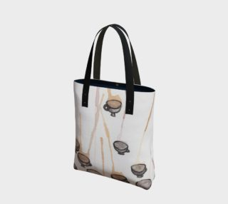 Tea and Ink Canvas Tote Bag preview