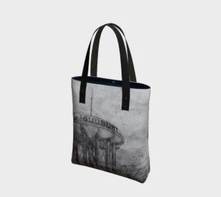 The Sudbury Water Tower Black Canvas Tote Bag preview
