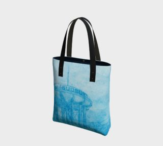 The Sudbury Water Tower Blue Canvas Tote Bag preview
