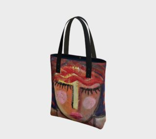 Red Hair Abstract Art Shoulder Bag preview