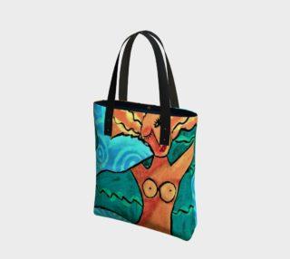 Aperçu de Swimming Mermaid Abstract Art Tote Bag