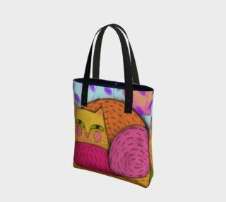 Aperçu de Abstract Cat Shoulder Bag