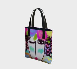 Flowers in Her Hair Abstract Art Shoulder Bag preview