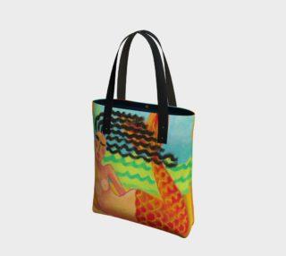 Aperçu de Abstract Mermaid Art Shoulder Bag