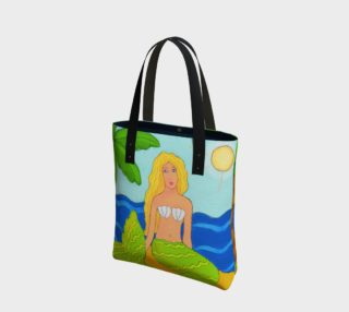 Mermaid and Palm Tree Abstract Art Shoulder Bag preview