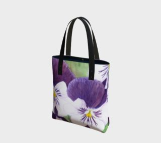 Purple and white pansies flowers Tote Bag preview