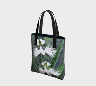 White egret orchids flowers Tote Bag preview