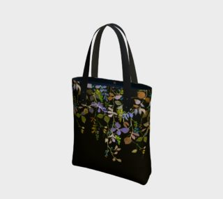 Midnight Garden Canvas Tote Bag preview