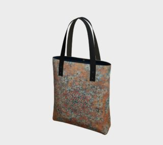 Flower of Life Watercolor Batik Canvas Tote preview