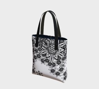 Honeycomb Floral Monochrome Canvas Tote preview