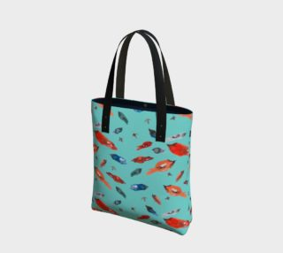 Sac à main Fish-Birds on turquoise preview