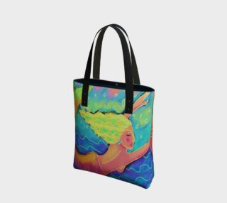 Aperçu de Mermaid in the Sea Abstract Art Shoulder Bag