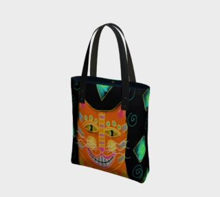 Aperçu de Smiling Cat Abstract Art Shoulder Bag