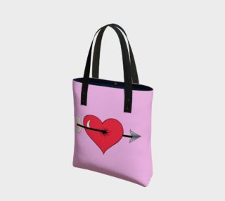 Struck by Cupid's Arrow Basic Tote preview