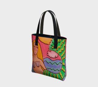 Aperçu de Funky Abstract Mermaid Shoulder Bag