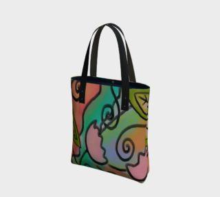 Aperçu de Abstract Floral Art Shoulder Bag
