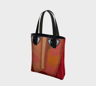 Aperçu de Big Red Lips Abstract Art Shoulder Bag