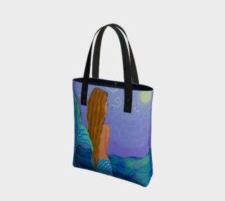 Aperçu de Beautiful Mermaid Abstract Art Shoulder Bag