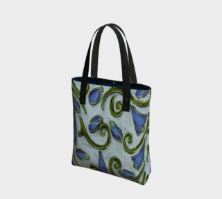 Aperçu de Funky Flowerz Abstract Art Shoulder Bag
