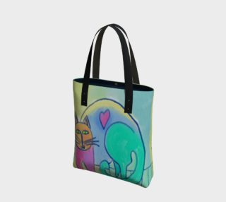 Happy Cat Abstract Art Shoulder Bag preview