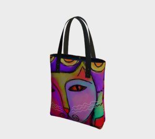 Aperçu de Colorful Abstract Cat Shoulder Bag