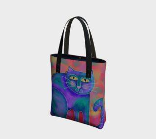 Aperçu de Funky Abstract Cat Art Shoulder Bag