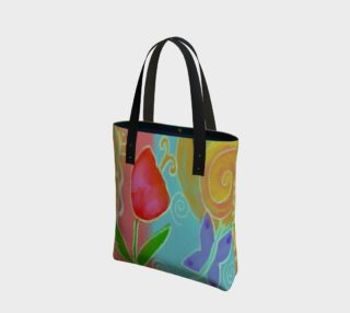 Aperçu de Tulip and Butterfly Abstract Art Shoulder Bag