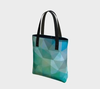 Aqua, Teal Abstract, Geometric, Unique, Triangle, polygon preview