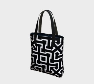 Black and White Ethnic Geometric Pattern Bag preview
