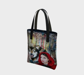Aperçu de Red and the Big Mad Wolf Tote Bag