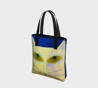Aperçu de Yellow Cat Abstract Art Shoulder Bag