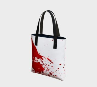 Blood Splatter First Cosplay Halloween Tote Bag preview