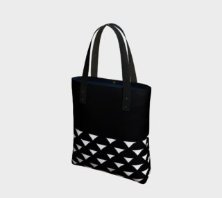 Black and White Triangles Tote Bag preview