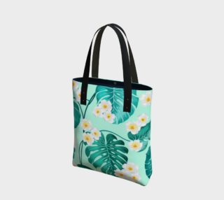 Tropical Palm Leaves and Flowers preview