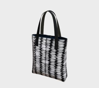 Abstract Wavy Black and White Pattern Bag preview