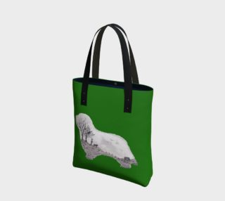 green beardie tote preview
