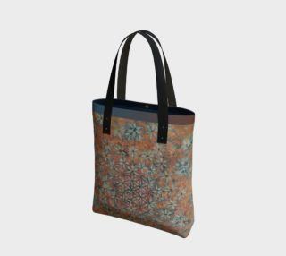 Flower of Life Ombre Peach Indigo Urban Tote preview