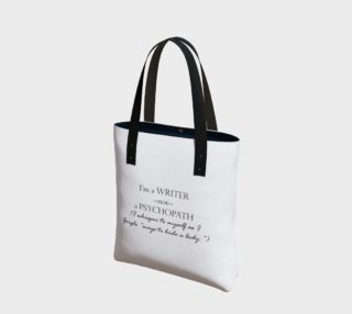 Writer Not Psycho Tote preview