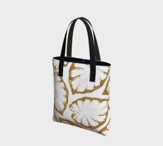 Aperçu de Monstera Gold Tote Bag