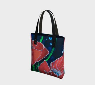Big Red Poppies Tote Bag preview