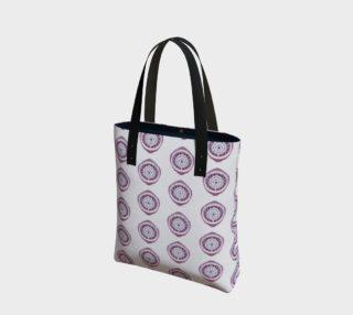Aperçu de Purple Ikat Circle Print