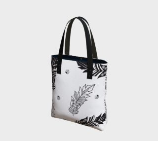 Black & White Feather Tote Bag preview