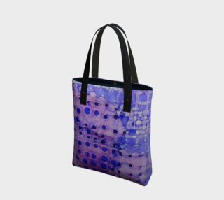 Purple Grid Ink #2 Tote Bag preview
