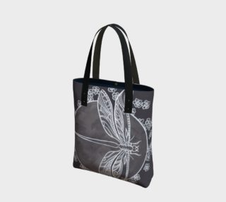Dragonfly white Tote preview